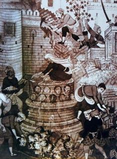 Skulls Minaret build by Akbar